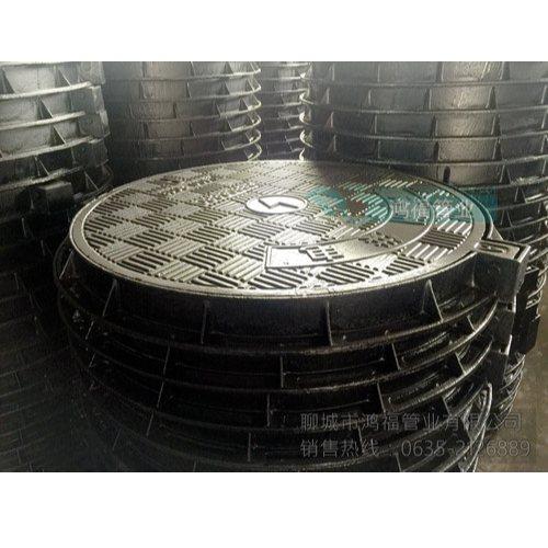 直径700球墨圆形井盖批发商 鸿福管业 承重80吨球墨圆形井盖单价