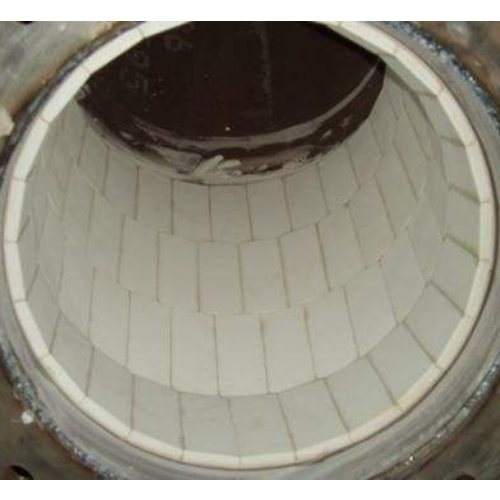 溜槽陶瓷片制造商 坤宁橡塑 92氧化铝耐磨陶瓷片定制