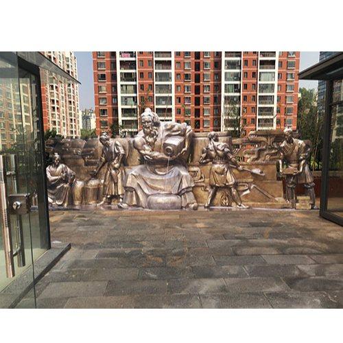 花岗岩浮雕壁画定制 学校浮雕壁画定制 赤流雕塑