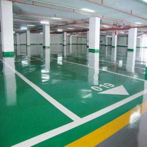地下停车场地坪哪家好 鑫云装饰 防尘地下停车场地坪工艺