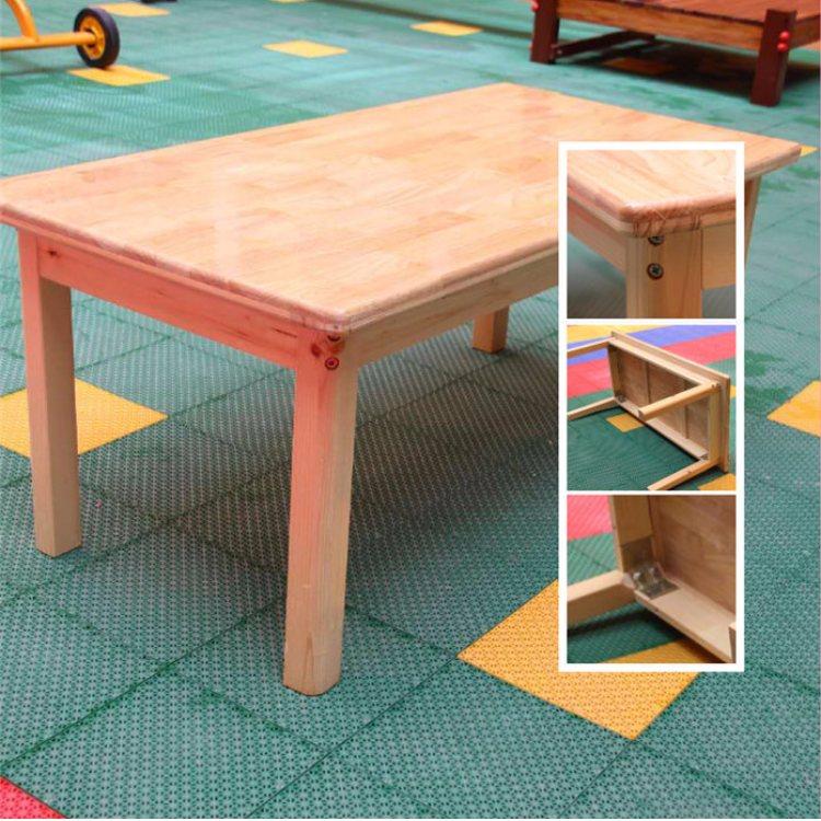 恒华 实木儿童课桌椅图片 幼儿园儿童课桌椅定制