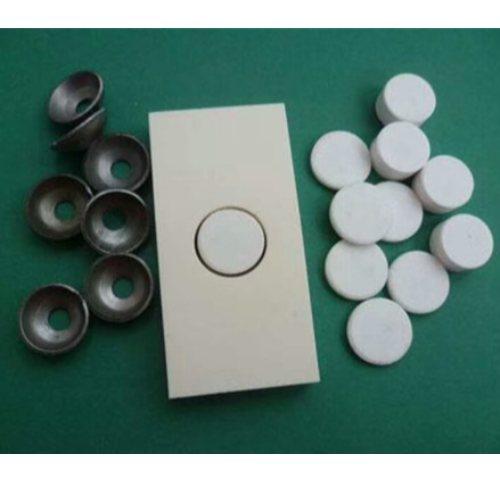球磨机陶瓷板生产加工 99氧化铝耐磨陶瓷板订制 坤宁橡塑