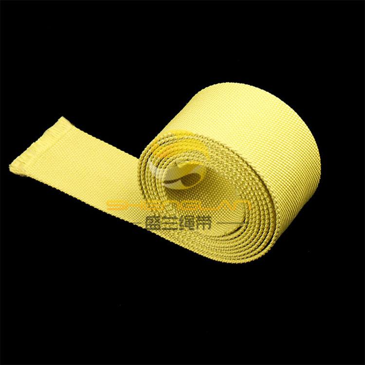 芳纶耐高温防火阻燃消防安全编织带 耐磨防割强拉力起重传送带子