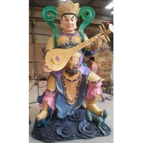 进忠雕塑 寺庙风水铸铜四大天王加工 风水铸铜四大天王