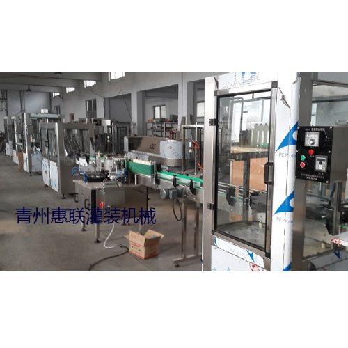 半自动红酒果酒黄酒灌装生产线报价 惠联灌装机械