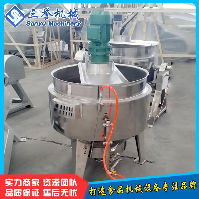 饮料搅拌夹层锅 三誉 龙虾调料夹层锅 食品熬制锅