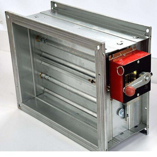广品 碳钢电动防火阀安装