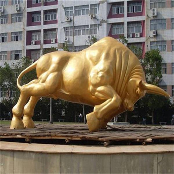 耕地牛雕塑生产厂 文禄雕塑 6米耕地牛雕塑生产厂