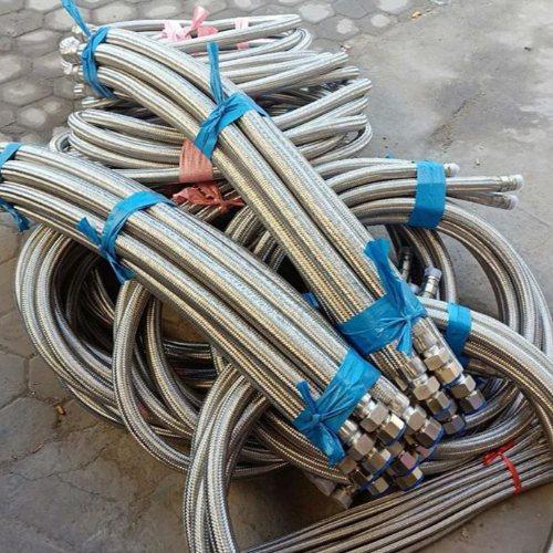 耐高温金属软管总成 内衬四氟金属软管生产商 嘉森科技