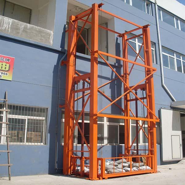 液压导轨式升降平台定做 丰润机械 仓库导轨式升降平台哪家好