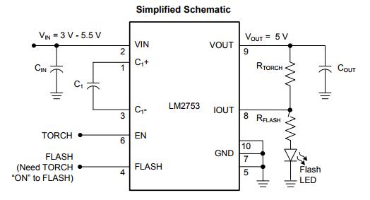 LM2753SD/NOPB LED照明驱动器