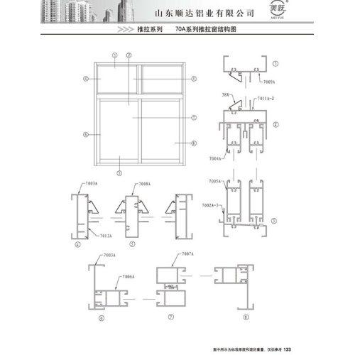 顺达 定制推拉窗铝型材质量 定制推拉窗铝型材经销商