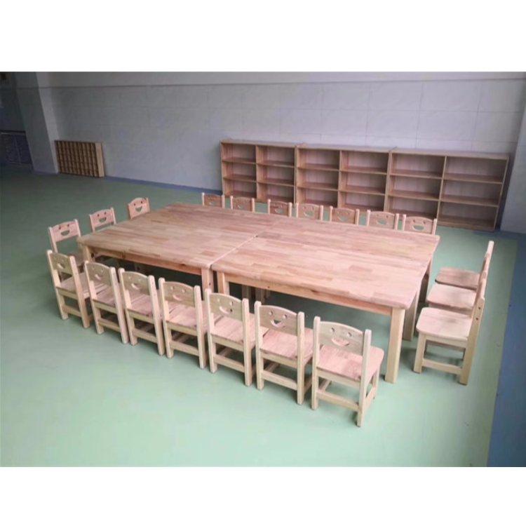 橡木儿童课桌椅图片 橡木儿童课桌椅定制 恒华