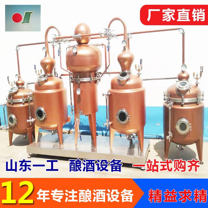 甜瓜蒸馏白兰地设备 葡萄蒸馏白兰地设备的厂家 山东一工酿酒