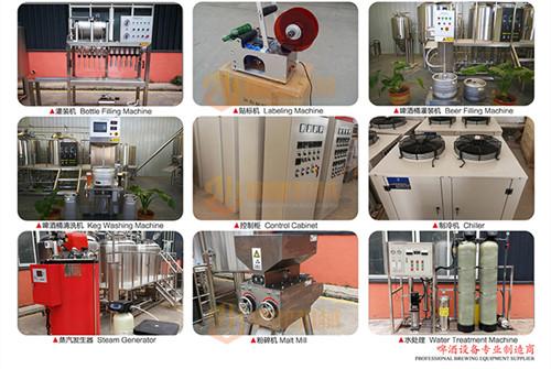 2000升啤酒厂设备,配备10-20个发酵罐可满足生产啤酒的目的,操作简单包学包会示例图12