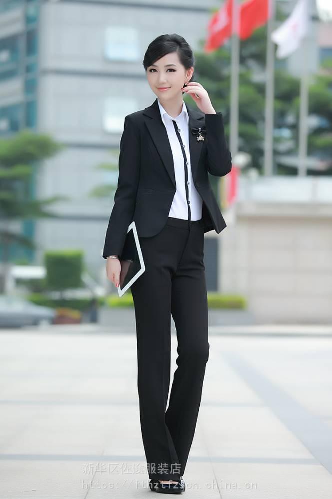供应石家庄订做修身短款职业装韩版小西服