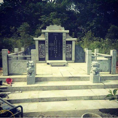 传统陵园墓碑石碑风格 章丘黑石碑定做 磊顺石材