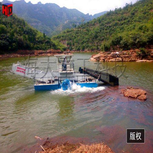青苔打捞清漂船哪家便宜 自动清漂船厂家 海大重工割草船