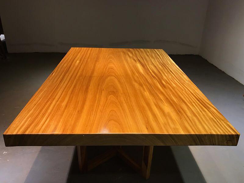 乌金木餐桌茶桌 直角边 成品 黑乌金木摇椅 贴皮家具