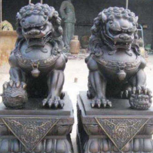 风水铜狮 夺艺 铜狮公司 大型铜狮公司