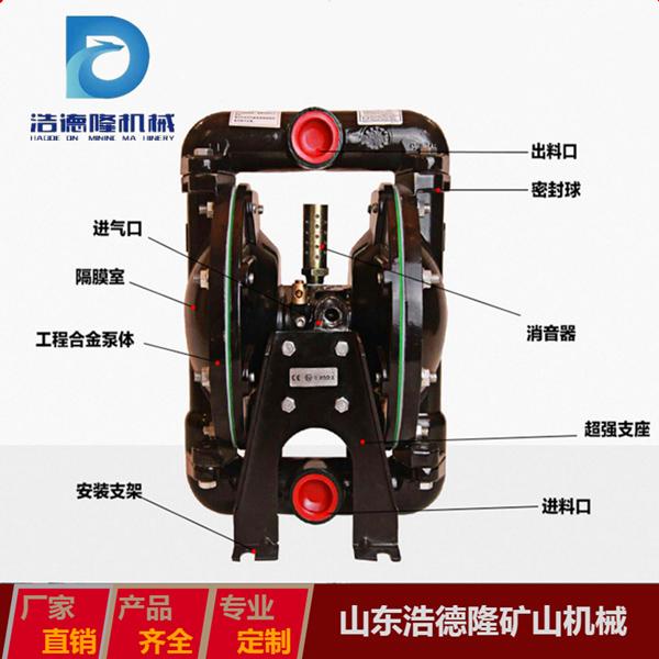 矿用隔膜泵特点 浩德隆 矿业隔膜泵 隔膜泵报价