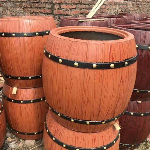 丽景建材 园林水泥仿木花桶成品