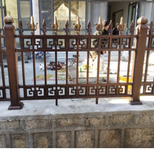 桂吉 铸铁栏杆施工方案 围墙铸铁栏杆护栏铸铁底座