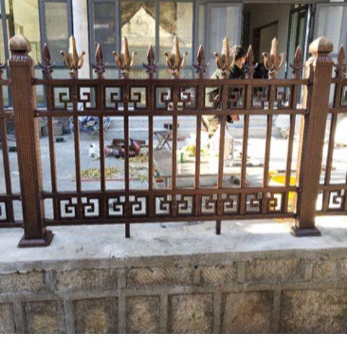 围墙铸铁栏杆支架 桂吉 围墙铸铁栏杆规格