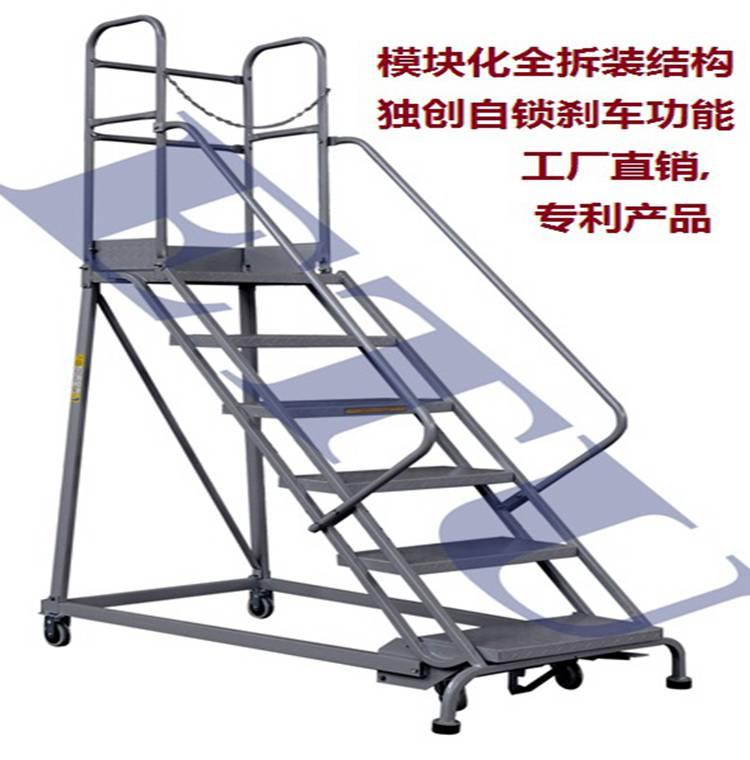 ETU易梯优移动平台理货梯登高车踏步梯特有自锁式刹车机构