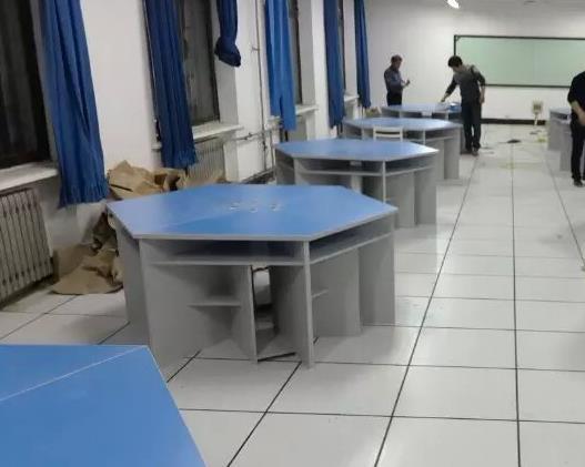 新郑电教室电脑桌 郑州多媒体教室电脑桌 全新