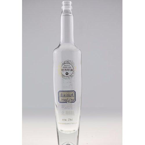 透明玻璃酒瓶工厂直销 金诚 蒙砂玻璃酒瓶批发