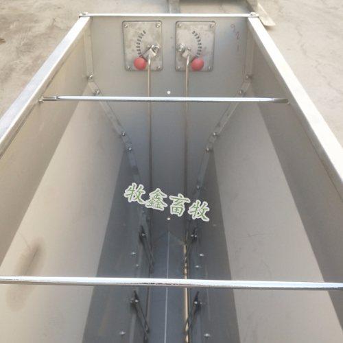 牧鑫 养猪场通体食槽 厂家批发通体食槽有几孔 母猪不锈钢料槽
