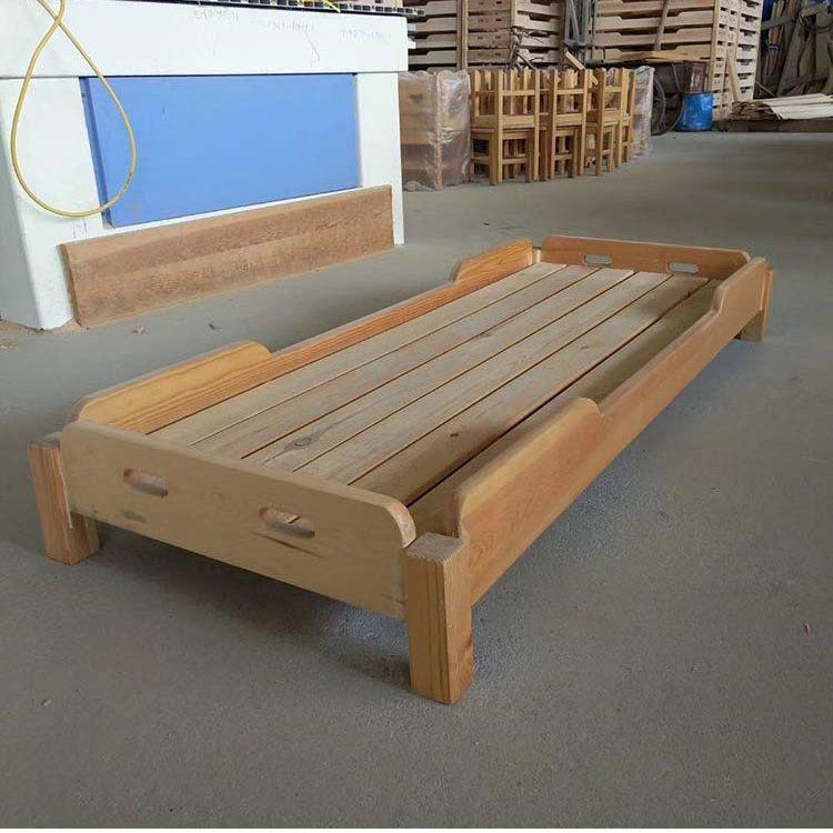 幼儿园床实木幼儿园午睡床叠叠床松木橡木学生午托床