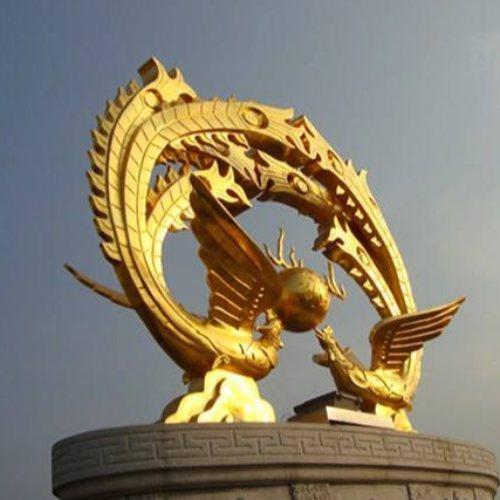 大号装饰品铜凤凰定做 进忠铜雕 装饰品铜凤凰供应
