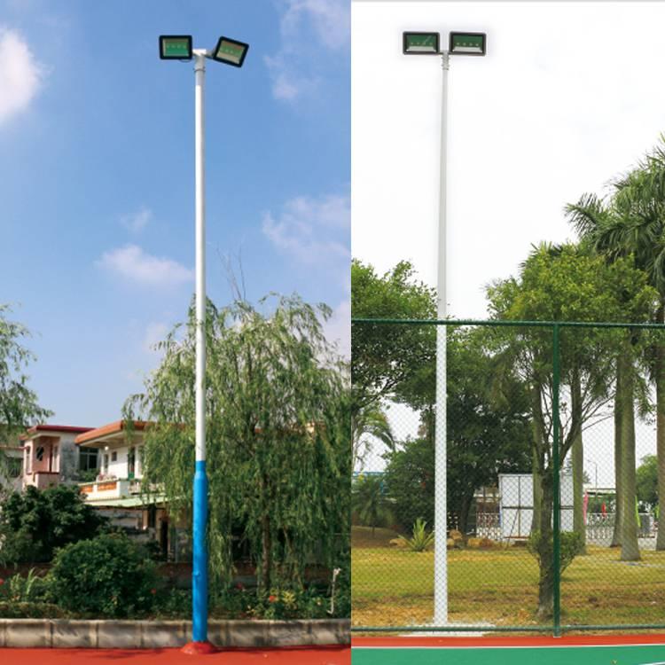 广州篮球场灯杆厂家灯杆价格678米球场灯杆LED灯200W