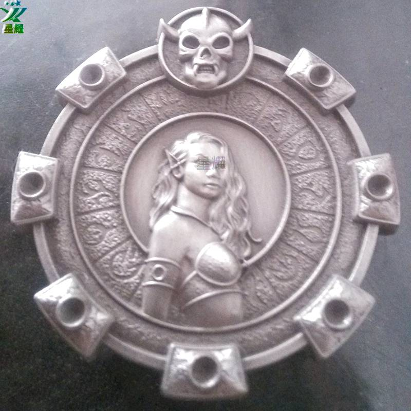 金属摆件饰品定制女战士奖盘性感女郎摆件饰品定制做厂家