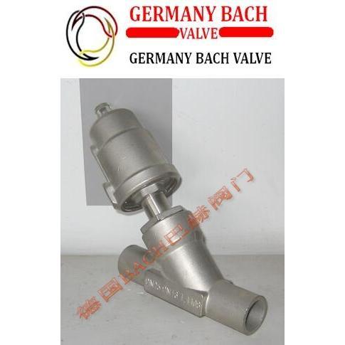 德国BACH巴赫进口全不锈钢焊接式气动角座阀 焊接式气动角座阀