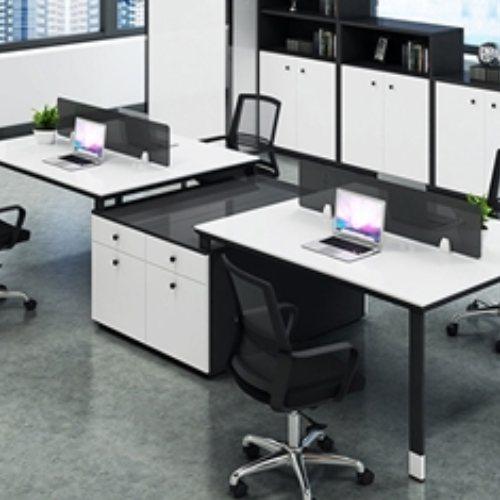 现代屏风员工桌定制 钢制屏风员工桌颜色 致美