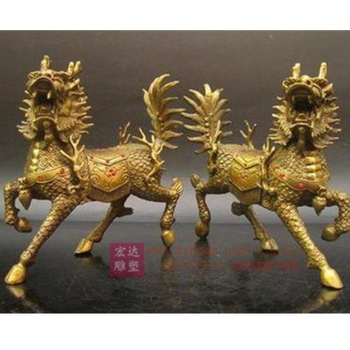 风水铜麒麟工艺品 宏达雕塑 加工风水铜麒麟工艺品铸造厂