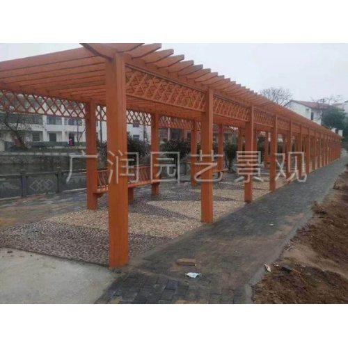广润园艺 防腐木长廊 碳化木廊架 走廊 户外专用防腐木 寿命20年以上