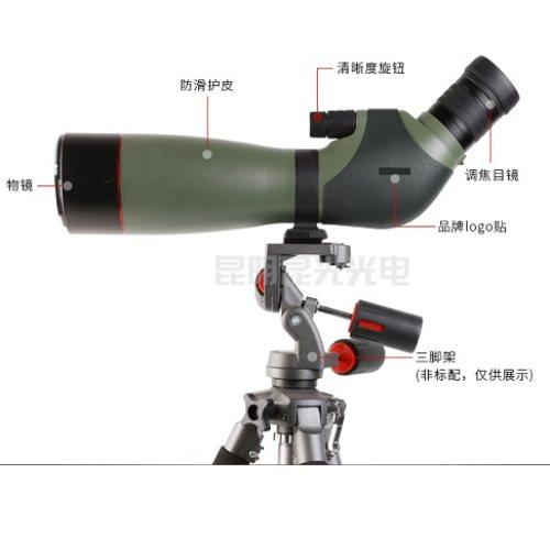 防水20-60X82观鸟镜报价 高倍高清20-60X82观鸟镜规格 昆光
