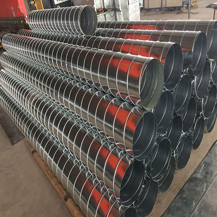 佳工环保 镀锌螺旋风管尺寸 定做镀锌螺旋风管厂家