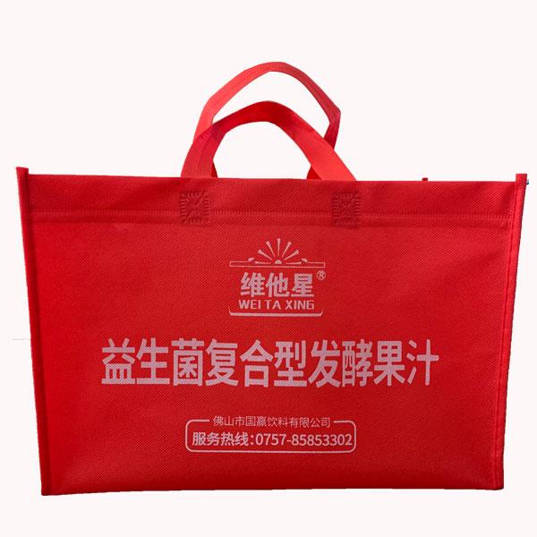 覆膜无纺布广告手提袋尺寸 绿恒 覆膜无纺布广告手提袋制作