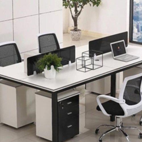 实木屏风员工桌生产 致美 公司屏风员工桌生产