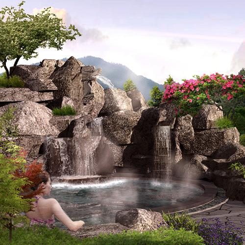室内温泉设计主题 度假村温泉设计公司 广州御水