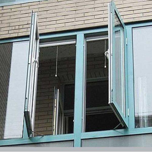 客厅落地断桥铝合金门窗价格 三朵云门窗
