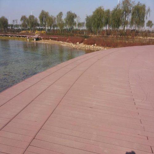 阳光房木塑地板安装 济南新民力 威海木塑地板 户外木塑地板价格