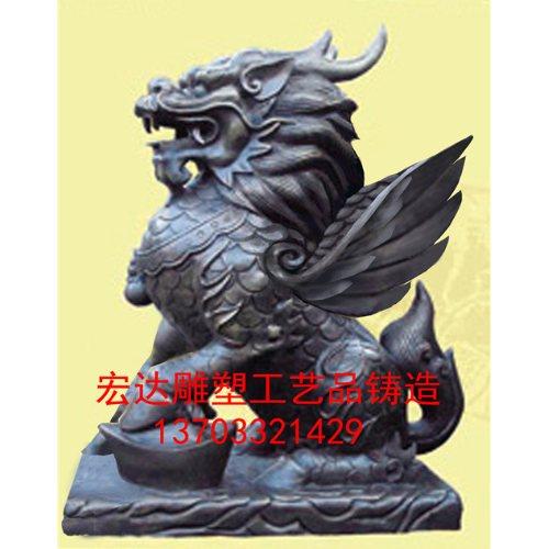 宏达雕塑 大型唐县风水铜麒麟铸造厂 大型唐县风水铜麒麟