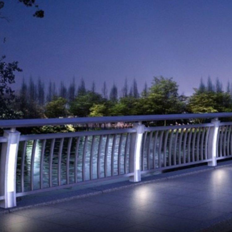 河道灯光栏杆定做 景观灯光栏杆定制 航拓 河道灯光栏杆批发