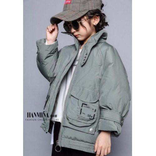 韩米娜羽绒服19冬装 广州品牌折扣童装羽绒服